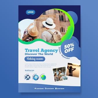 Concepto de cartel de viaje