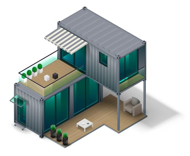 Concepto de casa contenedor