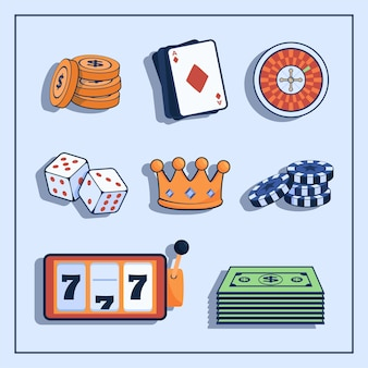 Concepto de casino y juegos de azar