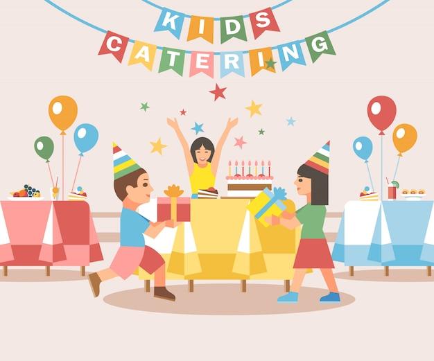 Concepto de catering para niños.