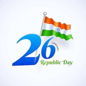 Concepto de celebración del día de la república del 26 de enero.