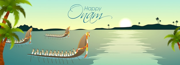 Concepto de celebración del festival onam.