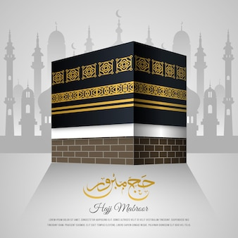 Concepto de celebración de peregrinación islámica