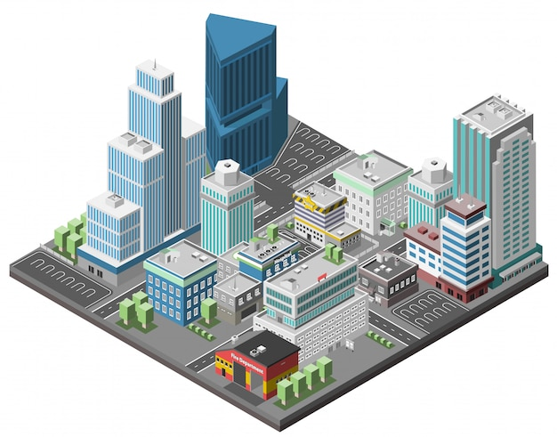 Concepto de centro de la ciudad