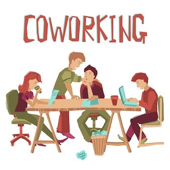 Concepto de centro de coworking