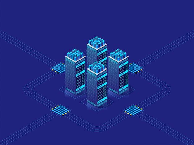 Concepto de centro de datos.