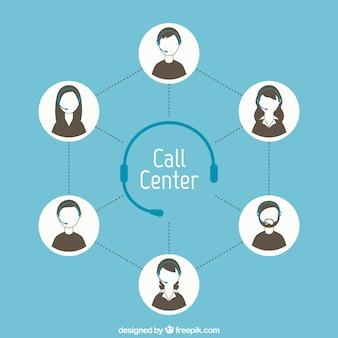 Concepto de centro de llamadas