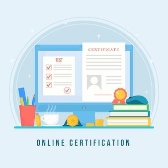 Concepto de certificación en línea