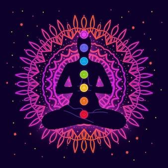Concepto de chakras ilustrado