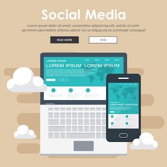 Concepto de chat y aplicaciones móviles.