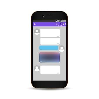 Concepto de chat y mensajería