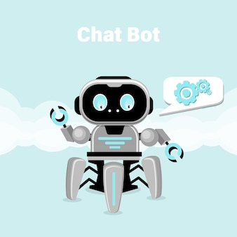 Concepto de chatbot. consulta online. ilustración de vector plano.