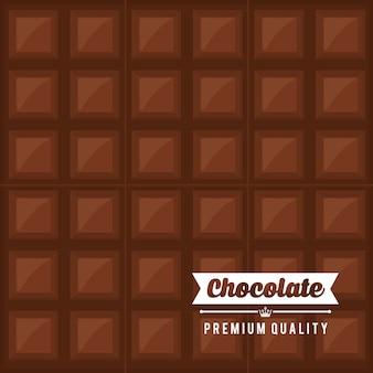 Concepto de chocolate con diseño dulce icono, ilustración vectorial eps 10 gráfico.