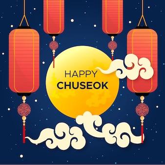 Concepto de chuseok en diseño plano