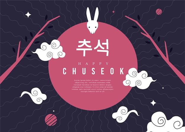 Concepto chuseok de diseño plano