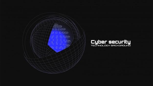 Concepto de ciberseguridad y protección de la información.