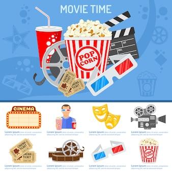 Concepto de cine y cine.