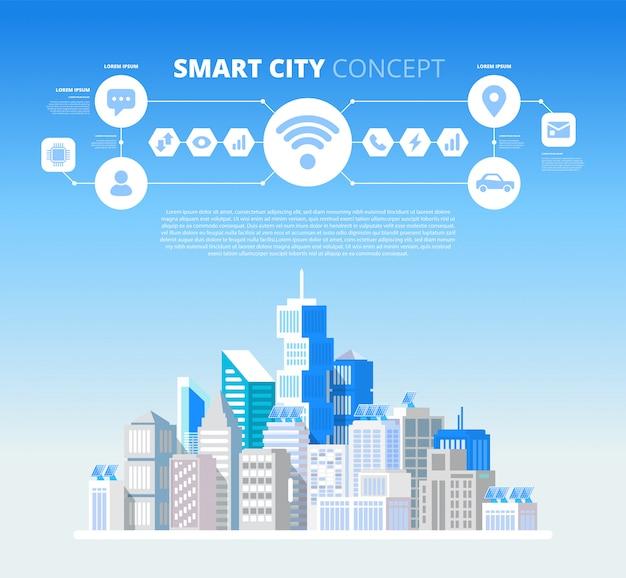 Concepto de ciudad inteligente.