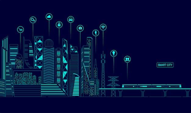 Concepto de ciudad inteligente