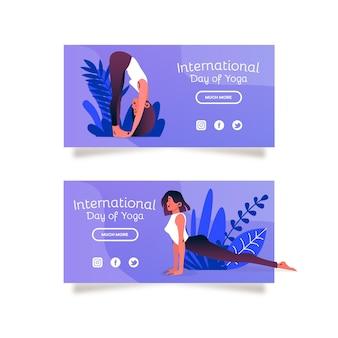 Concepto de clase de yoga en línea dibujado a mano