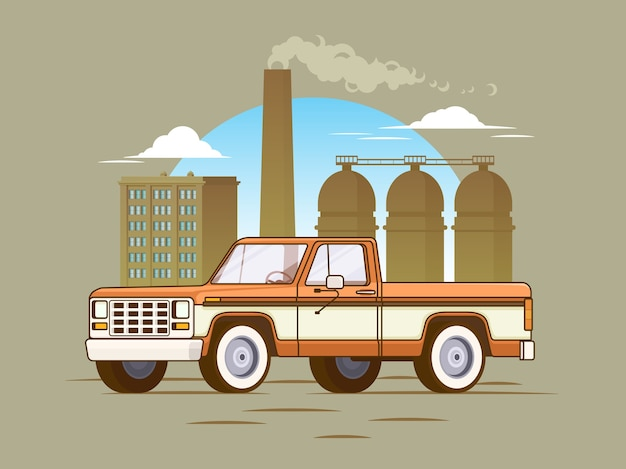 Concepto clásico de camioneta pickup americana