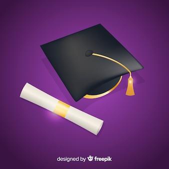 Concepto clásico de graduación con diseño realista