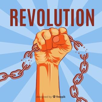 Concepto clásico de revolución con estilo vintage