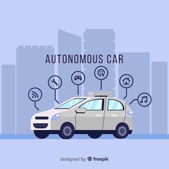 Concepto de coche autónomo
