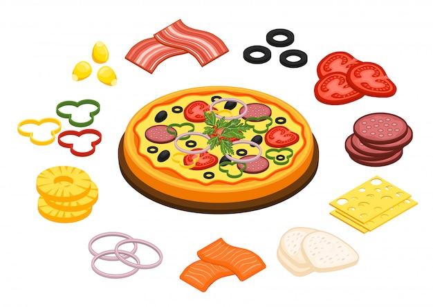 Concepto de cocina de pizza