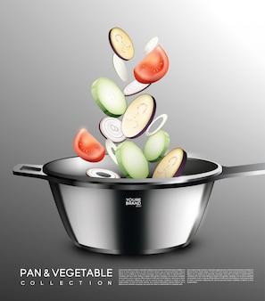 Concepto de cocina realista