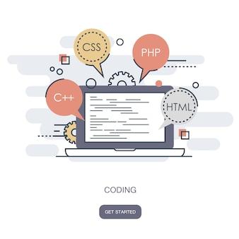 Concepto de código de programa y software