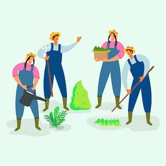 Concepto de colección de agricultores