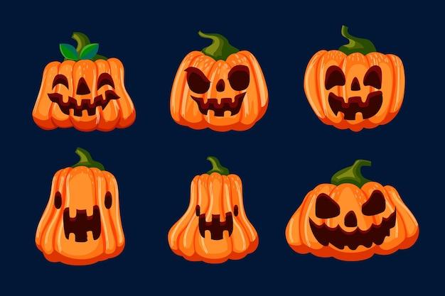 Concepto de colección de calabaza de festival de halloween