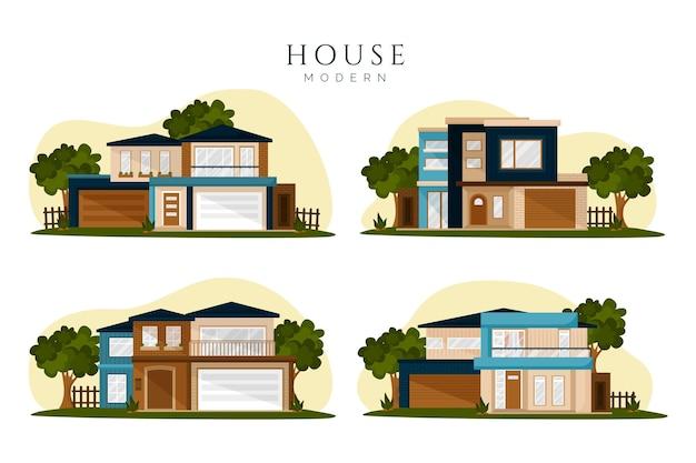 Concepto de colección de casa