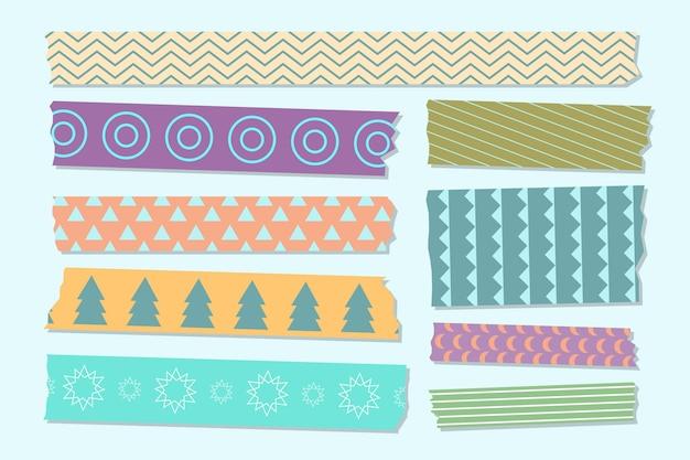 Concepto de colección de cintas washi