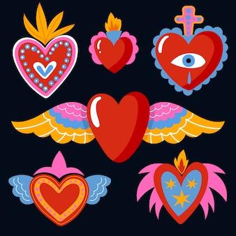Concepto de colección de corazón sagrado