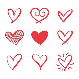 Concepto de colección de corazón