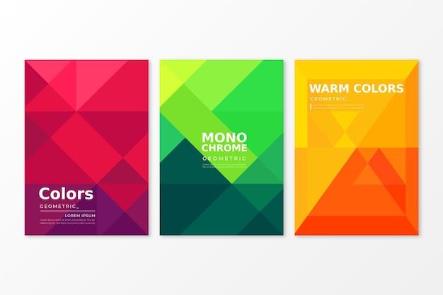 Concepto de colección de cubierta geométrica abstracta