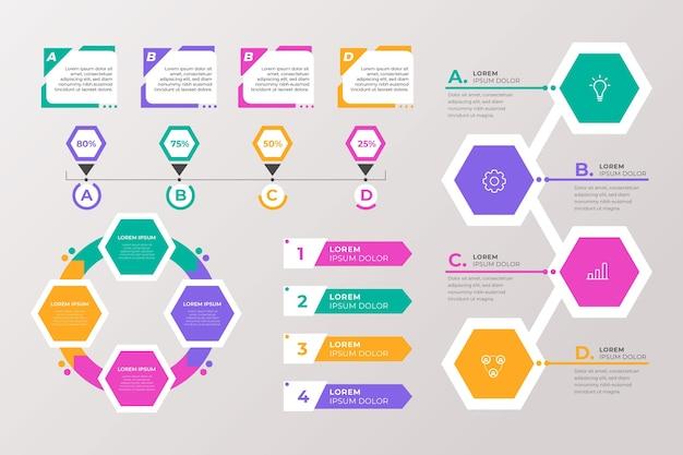 Concepto de colección de elementos infográficos