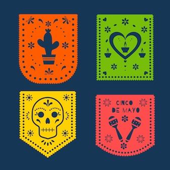 Concepto de colección de empavesado mexicano