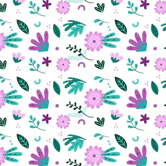 Concepto de colección de estampado floral