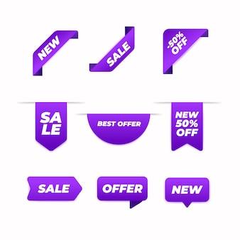 Concepto de colección de etiquetas de ventas