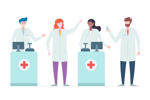 Concepto de colección farmacéutico