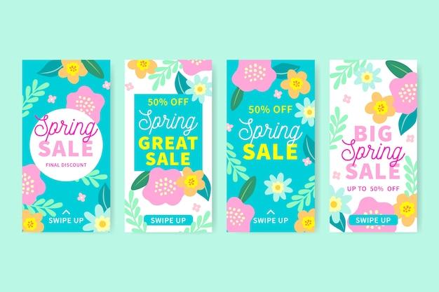 Concepto de colección de historia de instagram de venta de primavera