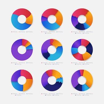 Concepto de colección de infografía de anillo
