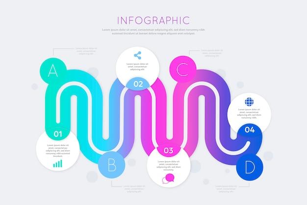 Concepto de colección de infografía degradado