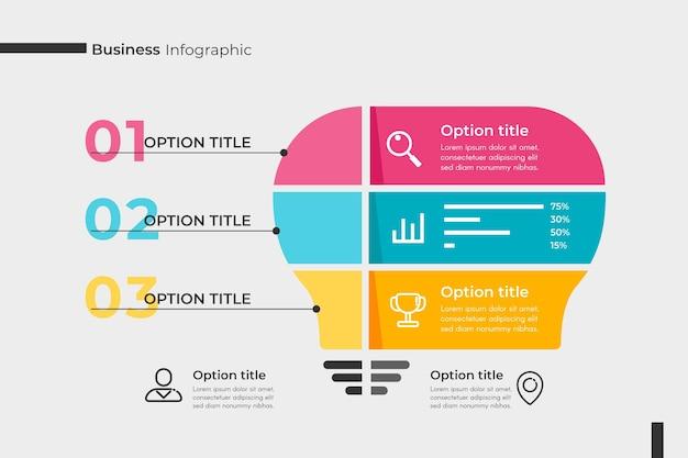 Concepto de colección de infografía empresarial