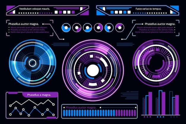 Concepto de colección de infografía futurista