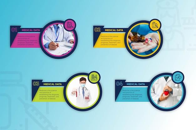 Concepto de colección de infografía médica