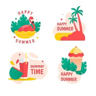 Concepto de colección de insignias de verano
